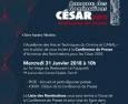 César 2018 : annonce des nominations ce 31 janvier 2018 à 10H