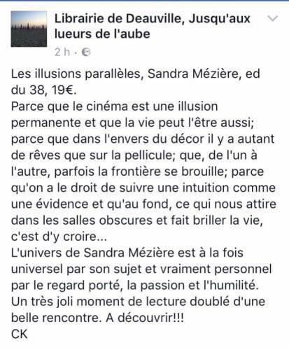 avis critique Les illusions parallèles de Sandra Mézière Editions du 38