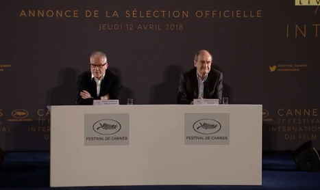 Sélection officielle du 71ème Festival de Cannes : conférence de presse